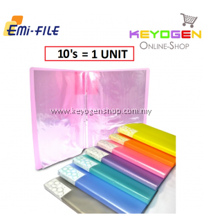 PP Clear Holder 10's A4 - 10 Pocket (1 Unit) (Random Colour)
