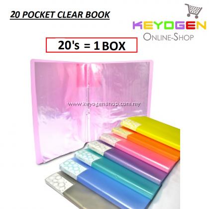 PP Clear Holder 20's (Mix Colour) / 1 box (12 unit)