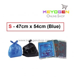 ISO Certified Factory - HDPE Garbage Bag S - 47cm x 54cm -10pcs 1 Pack - (Blue)