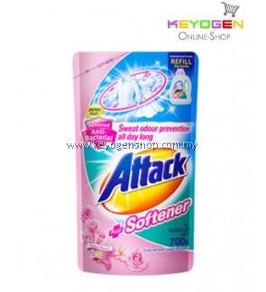 Attack Liquid Detergent Plus Softener Refill 700g