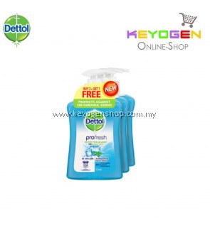 Dettol Hand Wash Pro Fresh Cool 250ml x 3 (Value Pack)