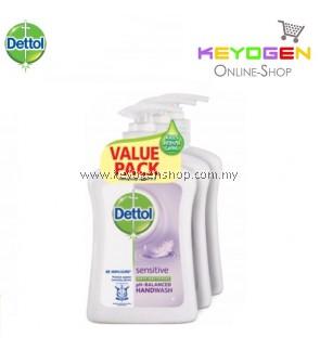 Dettol Hand Wash Sensitive 250ml x 3 (Value Pack)