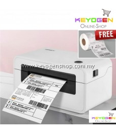 4-inch (50~108mm width) Direct Thermal Shipping Label Printer HPRT N41 FREE 1-Roll (500pcs) AWB A6 Size Sticker Papers