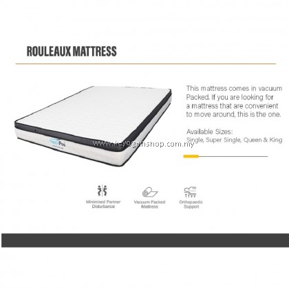 (Self Collect) NeckPro Rouleaux (Super Single) Compressed & Rolled Pocketed Spring Mattress (10 Inch Thickness) (10 Years Warranty)