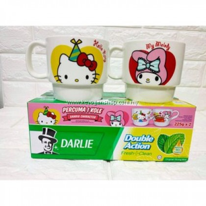 (Self Collect) DARLIE Toothpaste Original Strong Mint Twin Pack Free 1 Ceramic Mug 2s x 225g