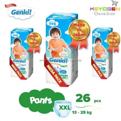 (MADE IN JAPAN) Genki! Premium Soft Pants XXL26 X 3 Packs /1 CTN  (FREE 20's x 3 Packs GENKI WIPES)